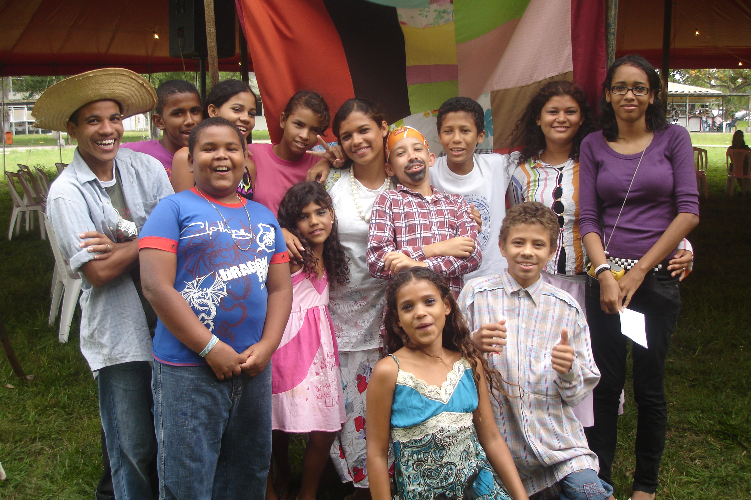Equipe do CiênciArte após apresentação na I Bienal de I Bienal de Arte, Ciência e Cultura (DCE/UFS)